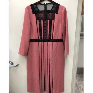 Dresses & Skirts - Bottega veneta pink black lace short sleeve dress